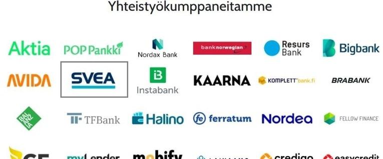 Kilpailuta Svea muiden pankkien kesken