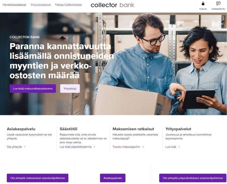 Kokemuksia Collector Bankista