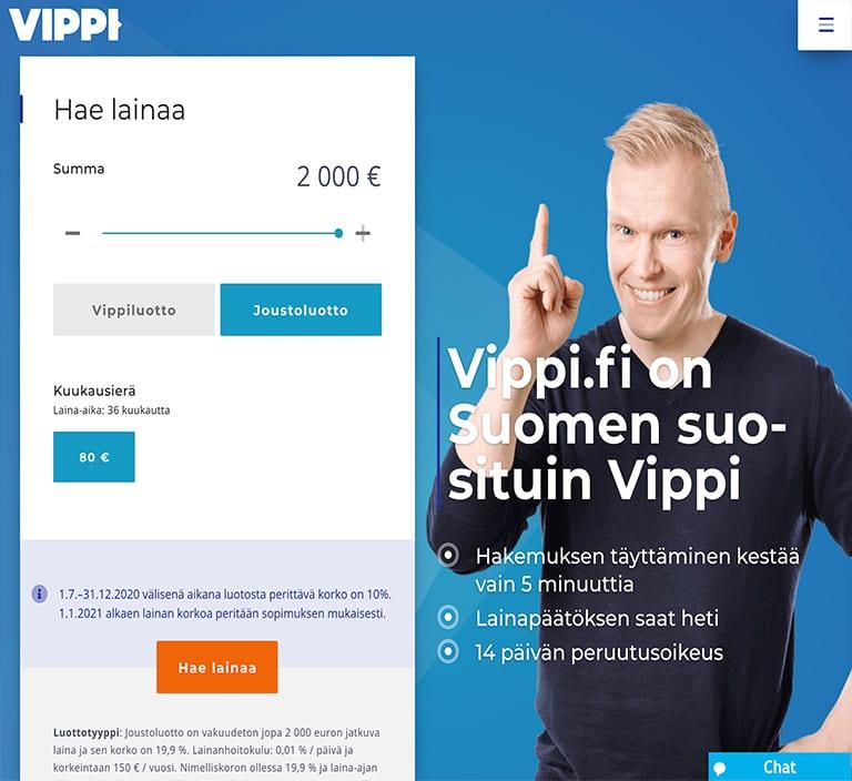 Vippi.fi laina